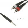 Câble Jack Stéréo vers 2x RCA - 3 mètres